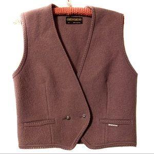 Geiger of Austria mauve wool vest EUC size 40 EUR